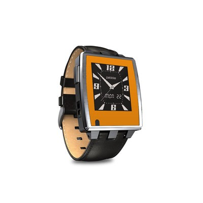 Pebble Steel Smartwatch Skin - Solid State Orange