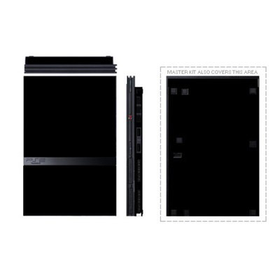 sony playstation 2 slim. pstwo skin - solid state black sony playstation 2 slim