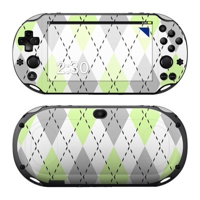 Sony PS Vita 2000 Skin - Mint Argyle