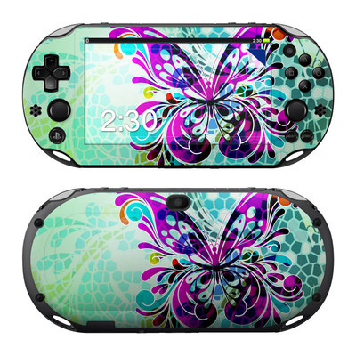 Sony PS Vita 2000 Skin - Butterfly Glass