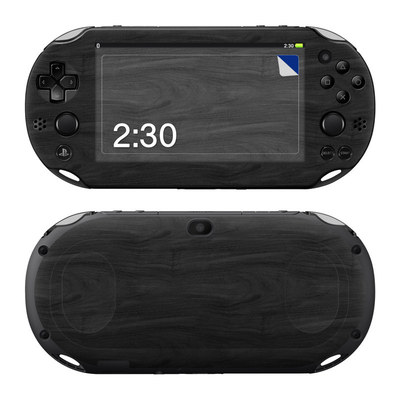 Sony PS Vita 2000 Skin - Black Woodgrain