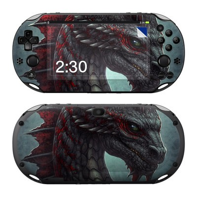 Sony PS Vita 2000 Skin - Black Dragon