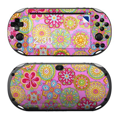 Sony PS Vita 2000 Skin - Bright Flowers