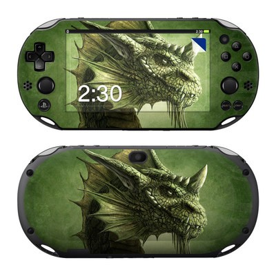 Sony PS Vita 2000 Skin - Green Dragon