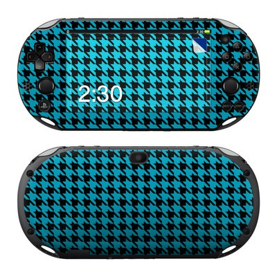 Sony PS Vita 2000 Skin - Teal Houndstooth