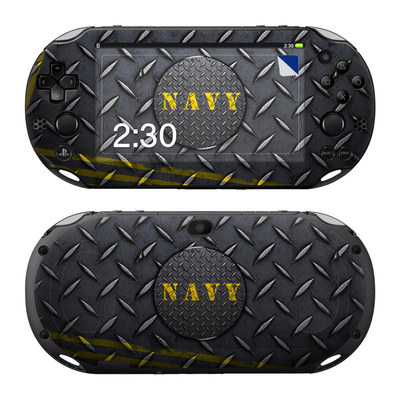 Sony PS Vita 2000 Skin - Navy Diamond Plate