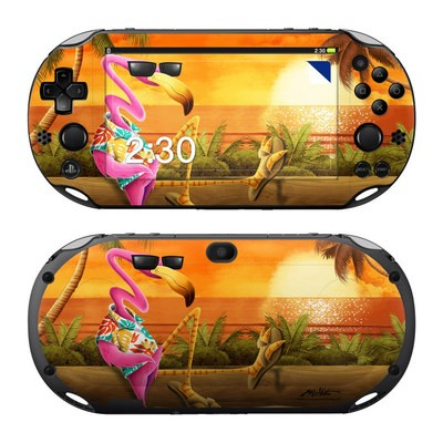 Sony PS Vita 2000 Skin - Sunset Flamingo
