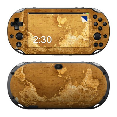 Sony PS Vita 2000 Skin - Upside Down Map
