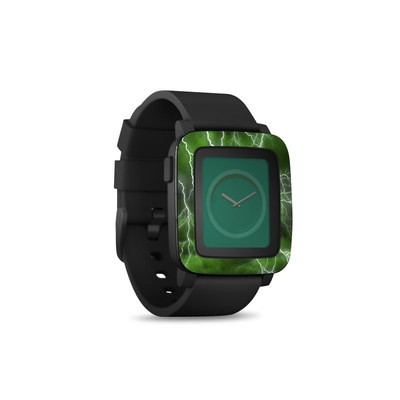 Pebble Time Smart Watch Skin - Apocalypse Green