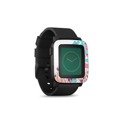 Pebble Time Smart Watch Skin - Blush Blossoms