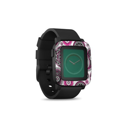 Pebble Time Smart Watch Skin - Boho Girl Paisley