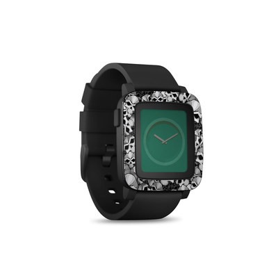 Pebble Time Smart Watch Skin - Bones