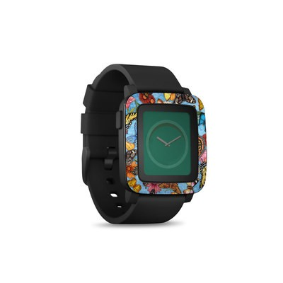 Pebble Time Smart Watch Skin - Butterfly Land
