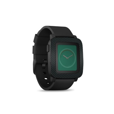 Pebble Time Smart Watch Skin - Carbon