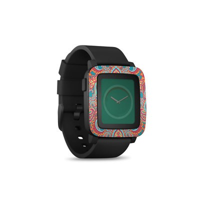 Pebble Time Smart Watch Skin - Carnival Paisley