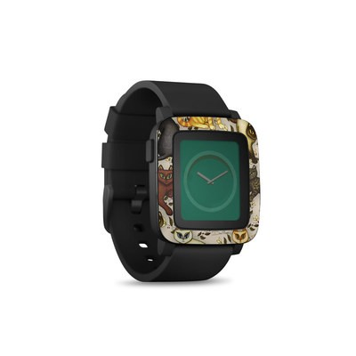 Pebble Time Smart Watch Skin - Cats