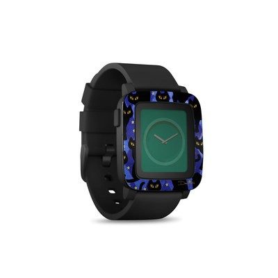 Pebble Time Smart Watch Skin - Cat Silhouettes