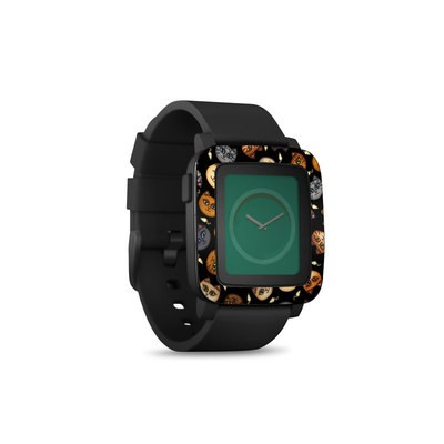Pebble Time Smart Watch Skin - Cat Faces