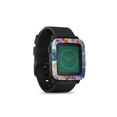 Pebble Time Smart Watch Skin - Cosmic Flower