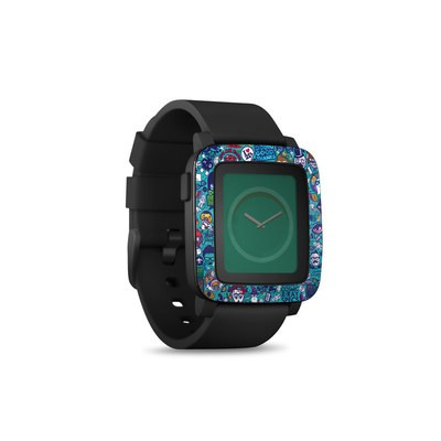 Pebble Time Smart Watch Skin - Cosmic Ray