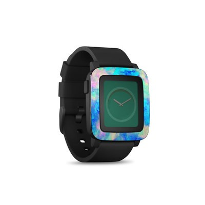 Pebble Time Smart Watch Skin - Electrify Ice Blue