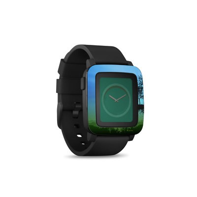 Pebble Time Smart Watch Skin - Flying Tree Blue
