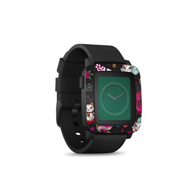 Pebble Time Smart Watch Skin - Geisha Kitty