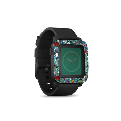 Pebble Time Smart Watch Skin - Jewel Thief
