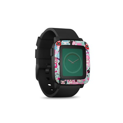 Pebble Time Smart Watch Skin - Kimono Cuties