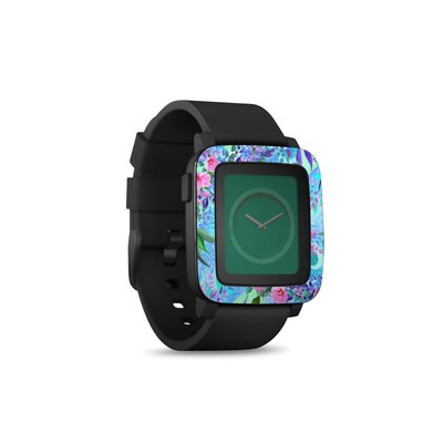 Pebble Time Smart Watch Skin - Lavender Flowers