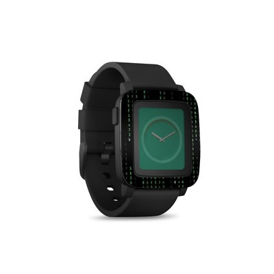 Pebble Time Smart Watch Skin - Matrix Style Code