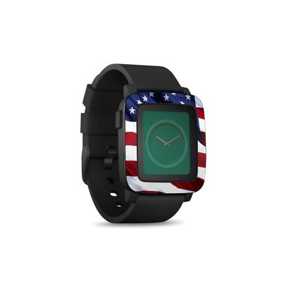 Pebble Time Smart Watch Skin - Patriotic