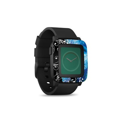 Pebble Time Smart Watch Skin - Peacock Sky