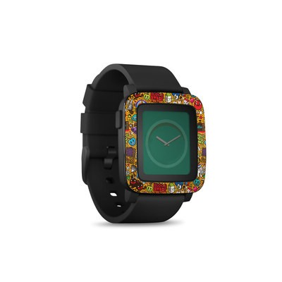 Pebble Time Smart Watch Skin - Psychedelic