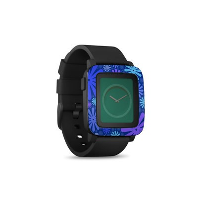 Pebble Time Smart Watch Skin - Indigo Punch