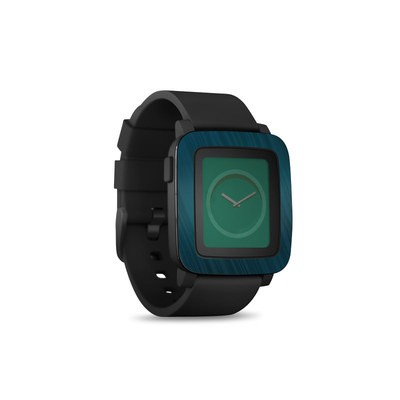 Pebble Time Smart Watch Skin - Rhythmic Blue