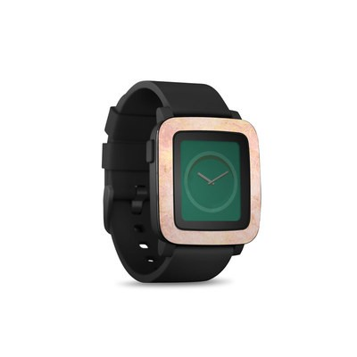 Pebble Time Smart Watch Skin - Rose Gold Marble