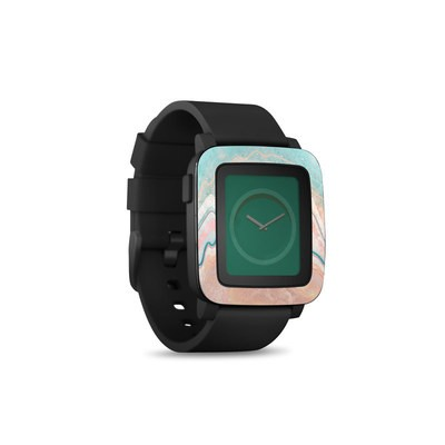 Pebble Time Smart Watch Skin - Spring Oyster