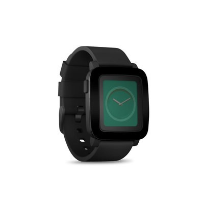 Pebble Time Smart Watch Skin - Solid State Black