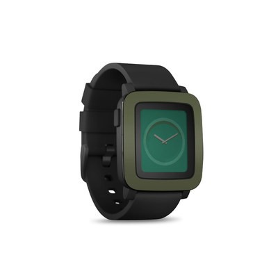 Pebble Time Smart Watch Skin - Solid State Olive Drab