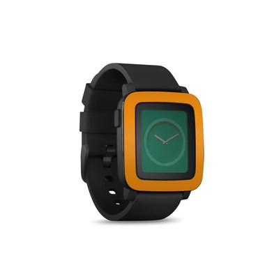 Pebble Time Smart Watch Skin - Solid State Orange