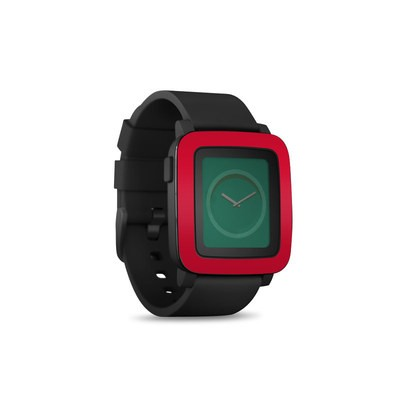 Pebble Time Smart Watch Skin - Solid State Red
