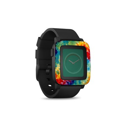 Pebble Time Smart Watch Skin - Tie Dyed
