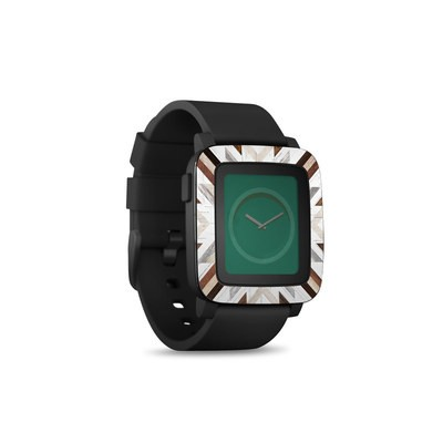 Pebble Time Smart Watch Skin - Timber