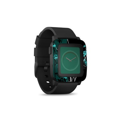 Pebble Time Smart Watch Skin - Aqua Tranquility