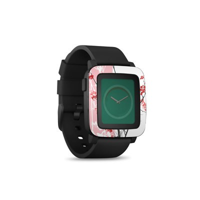 Pebble Time Smart Watch Skin - Pink Tranquility
