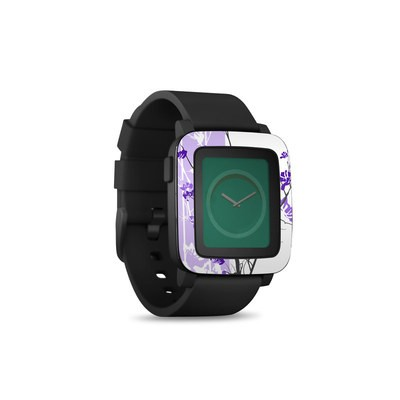 Pebble Time Smart Watch Skin - Violet Tranquility