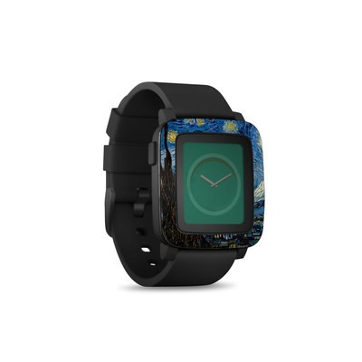 Pebble Time Smart Watch Skin - Starry Night