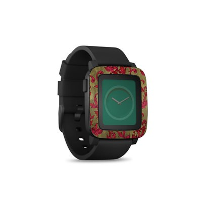 Pebble Time Smart Watch Skin - Vintage Scarlet