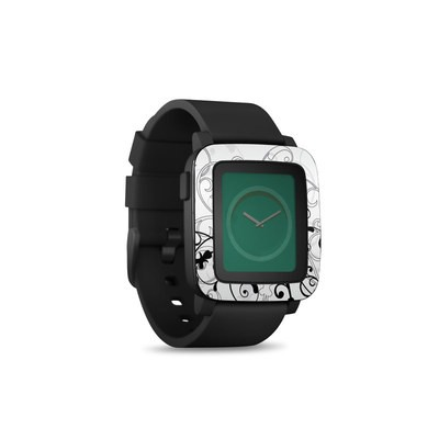 Pebble Time Smart Watch Skin - W&B Fleur